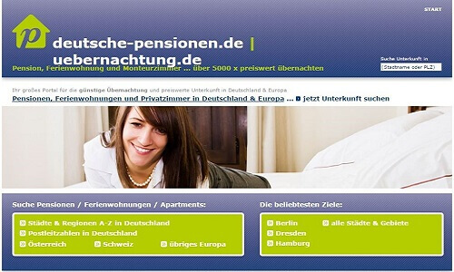 Screenshot Deutsche-Pensionen.de